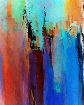 Abstracte Samenstelling 1013 van Angel Estevez