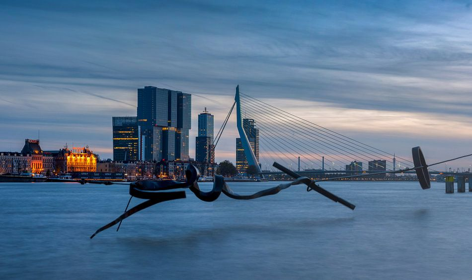 rotterdam blue hour panorama