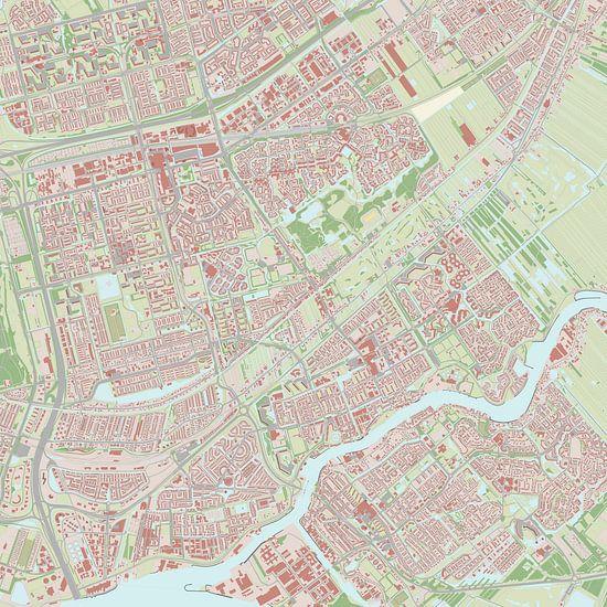 Kaart vanCapelle aan den IJssel van Rebel Ontwerp