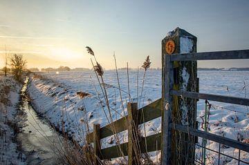 Zonsopkomst in Winterwonderland von Edwart Visser