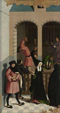 Die sieben Werke der Barmherzigkeit (Teil 7), Meister von Alkmaar