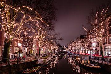 Spiegelgracht Amsterdam in de avond