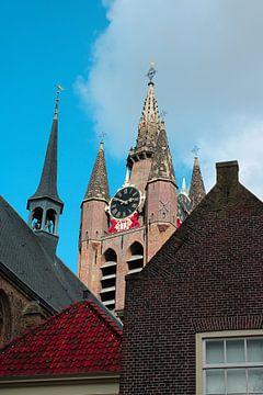 Oude Kerk in Delft van Sharona de Wolf