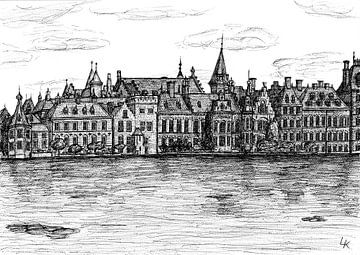 Pentekening van Den Haag, Buitenhof van Lonneke Kolkman