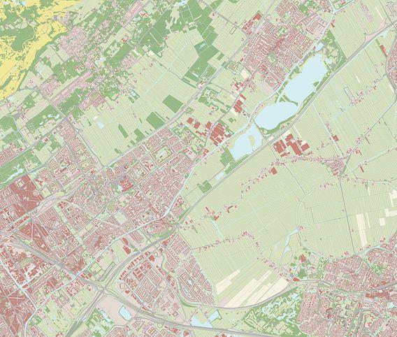 Kaart vanLeidschendam-Voorburg van Rebel Ontwerp
