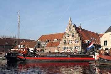 Stadstimmerwerf aan het Galgewater in Leiden van