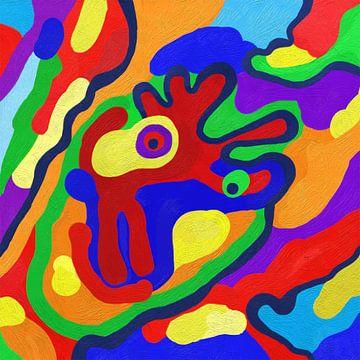 Abstrakte Kunst  von Lida Bruinen