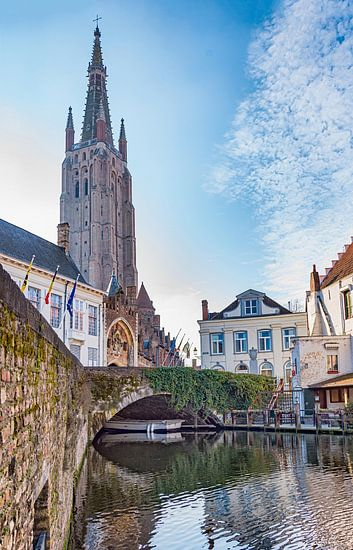 Gruuthusebrug en Onze-Lieve-vrouwkerk Brugge