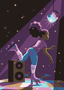 Roller Disco van Eduard Broekhuijsen