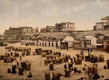 Strand en hotels van Scheveningen sur Vintage Afbeeldingen