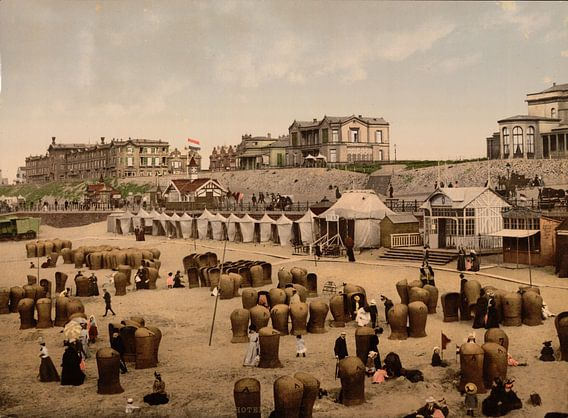 Strand en hotels van Scheveningen van Vintage Afbeeldingen