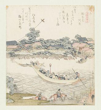 Die Onmaya Riverbank, Katsushika Hokusai, 1822.