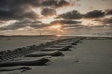 spoor in het zand