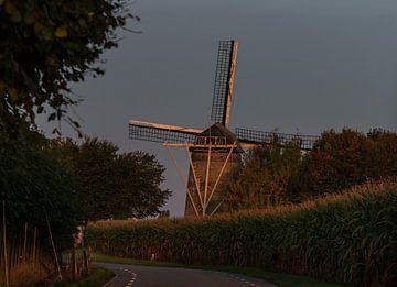 Tienhovenmolen Wolfshuis Bemelen Zuidlimburg Nederland van Evelien Heuts-Flachs