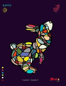 Tabby Rabbit  van Michel Linthorst