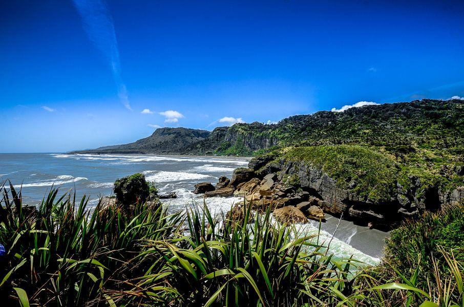 Kustlijn van Punakaiki - Nieuw Zeeland van Ricardo Bouman | Fotografie