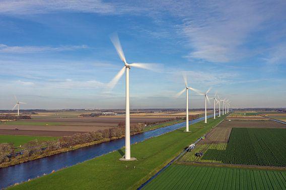 De moderne windmolens in Nederland