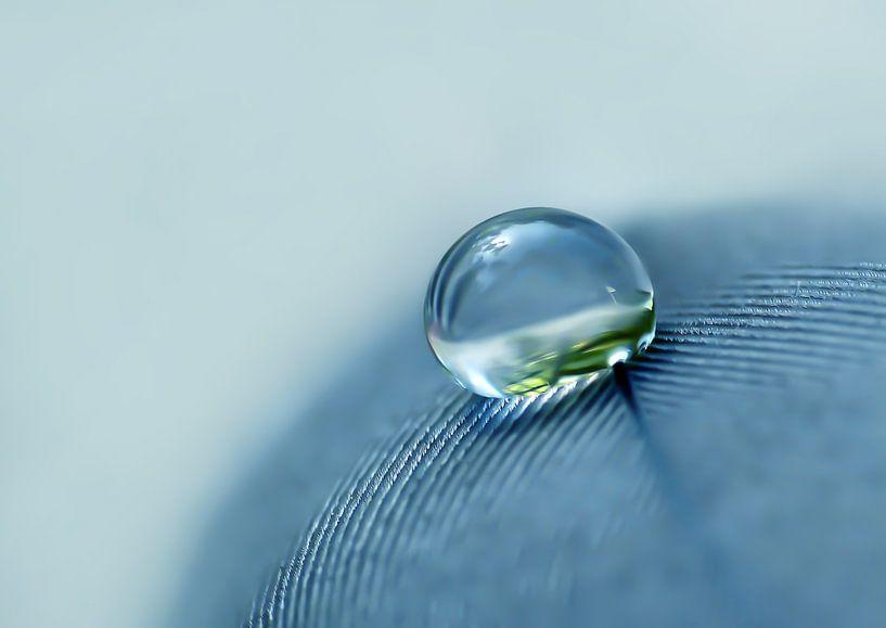 Denim Droplet (Druppel in Denim) van Caroline Lichthart