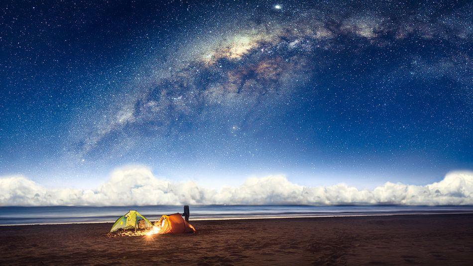 Camping under the galaxy