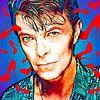 PopArt Kunstwerk von David Bowie von Martin Melis Miniaturansicht