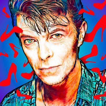 PopArt illustratie van  David Bowie van Martin Melis