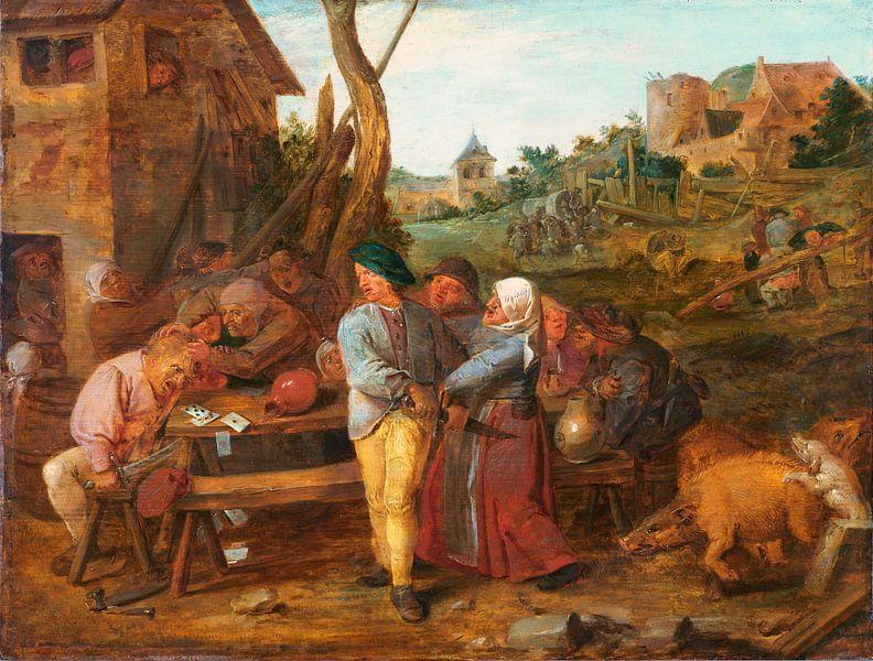 Bauernkampf, Adriaen Brouwer von Meesterlijcke Meesters