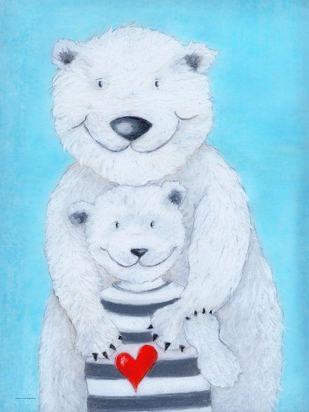 Papa Eisbär von Atelier BuntePunkt