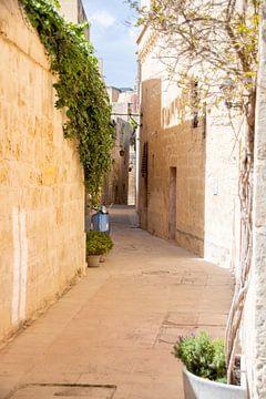 Perfect straatje in Mdina I Republiek Malta van Manon Verijdt