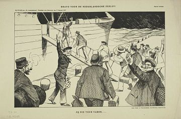 Bravo voor de Nederlandse Zeelui, Johan Braakensiek, 1917 van Atelier Liesjes