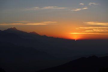 Sonnenaufgang Nepal Annapurna von Sjoerd Moret