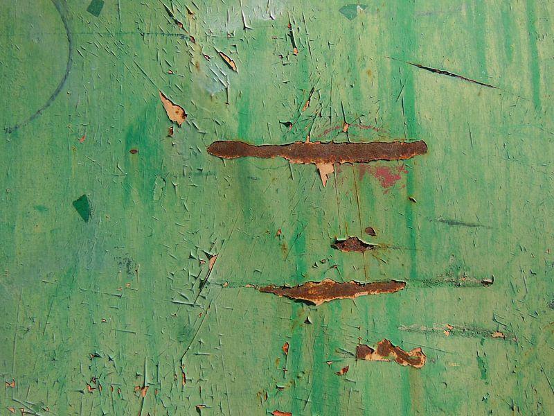 Garda, Italy (detail, green and rust) van Rüdiger Hirt