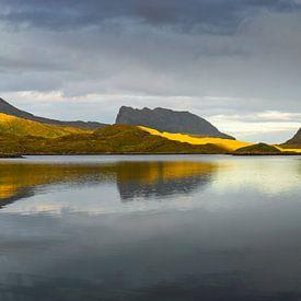 Fjord in het noorden van Noorwegen van Chris Stenger