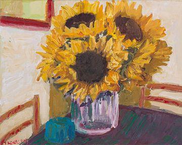 Sonnenblumen in Vase von artbykoelemij