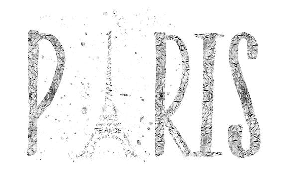 PARIJS typografie | zilver & wit