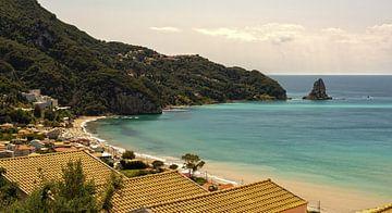 Strand von Agios Gordios Korfu von Marjolein van Middelkoop