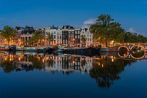 Amstel spiegel blauwe uur 3