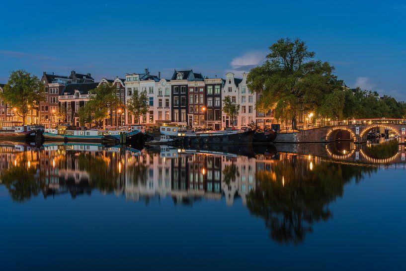 Amstel spiegel blauwe uur 3 van Jeroen de Jongh