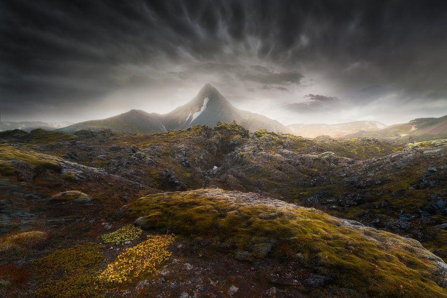 Dramatisch IJsland van Albert Dros