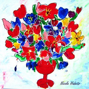 Vaas met bloemen van Nicole Habets