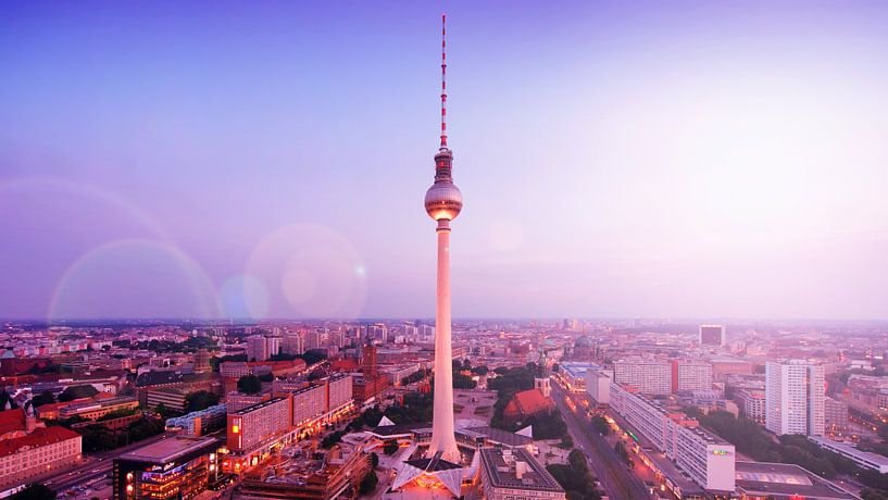 Berlin – TV Tower Skyline van Alexander Voss