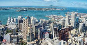 De haven van Auckland, Nieuw Zeeland