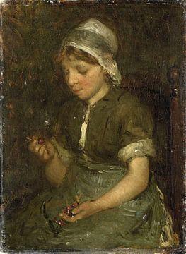 Mädchen mit Kirschen, Bernardus Johannes Blommers
