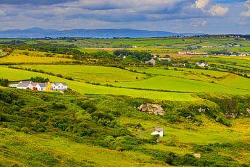 Het landschap van Noord-Ierland nabij Ballintoy van Henk Meijer Photography