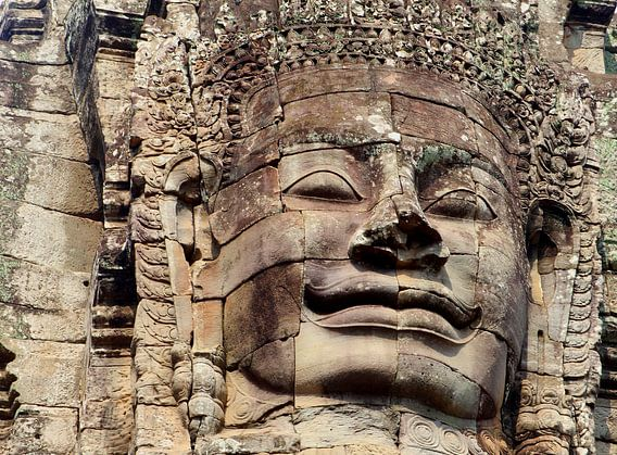 Vredig Boeddha gezicht, Bayon