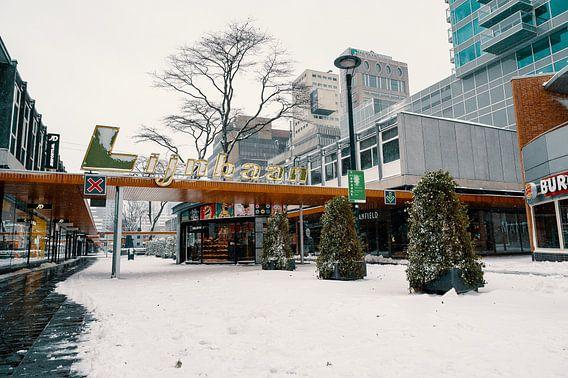 Lijnbaan im Schnee