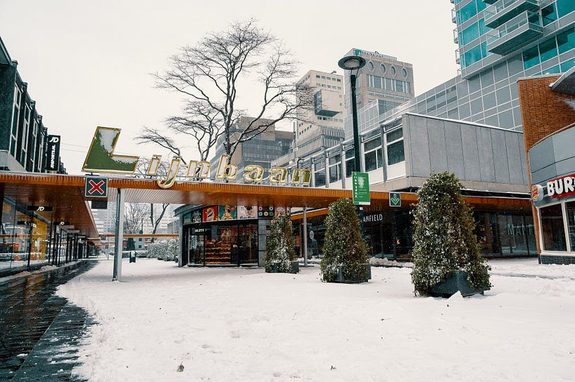 Lijnbaan im Schnee von Paul Poot
