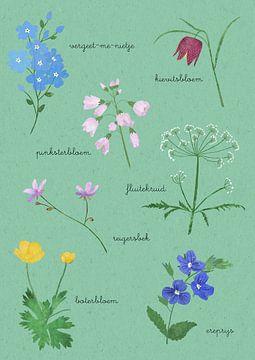 Frühling Blumen Schule Platte von Studio Voorpret
