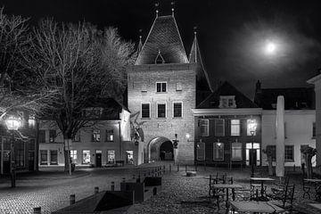 Koornmarkt Kampen en noir et blanc sur Fotografie Ronald