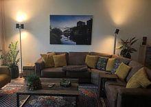 Klantfoto: Zonsondergang Piushaven Tilburg van Dirk Smit, op canvas
