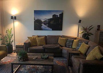 Klantfoto: Zonsondergang Piushaven Tilburg van Dirk Smit